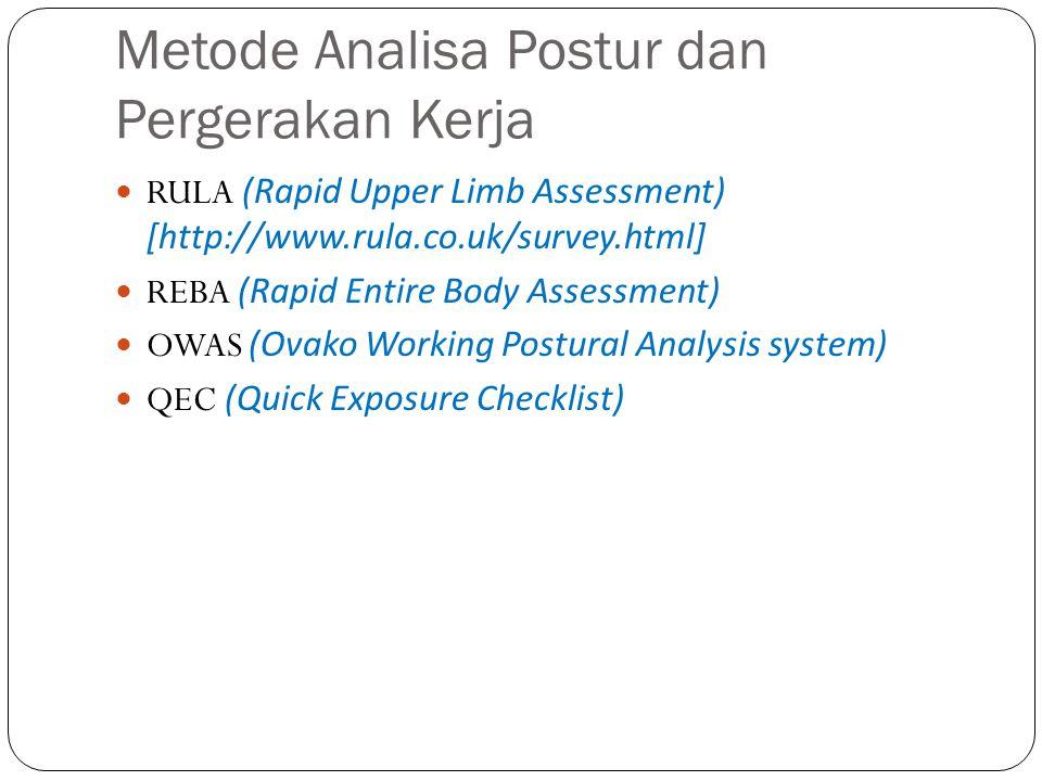 Metode Analisa Postur dan Pergerakan Kerja