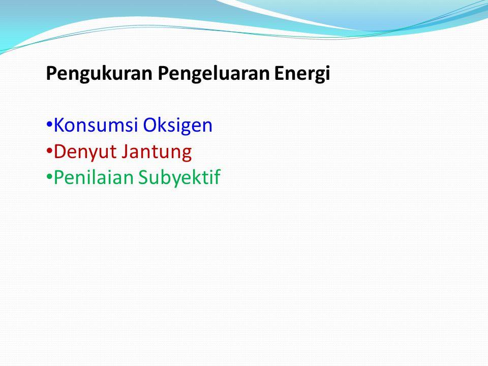 Pengukuran Pengeluaran Energi