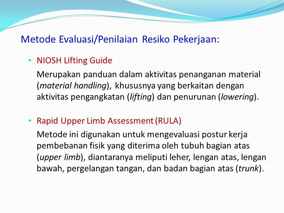 Metode Evaluasi/Penilaian Resiko Pekerjaan: