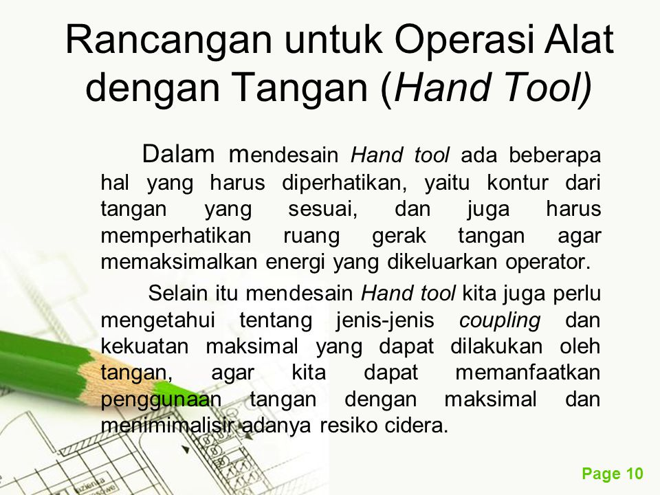 Rancangan untuk Operasi Alat dengan Tangan (Hand Tool)