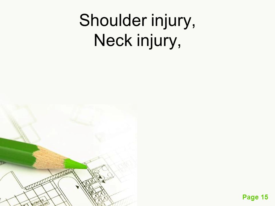 Shoulder injury, Neck injury,