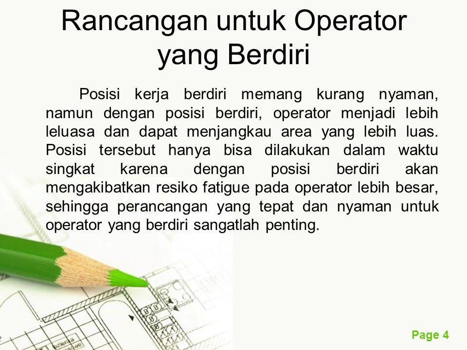 Rancangan untuk Operator yang Berdiri