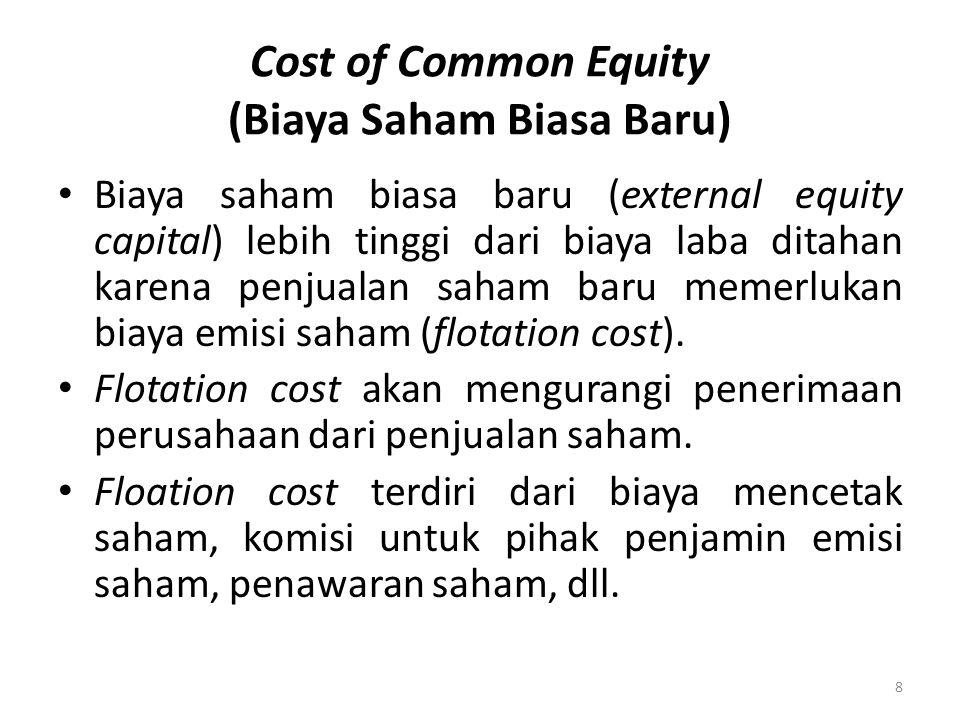 Cost of Common Equity (Biaya Saham Biasa Baru)
