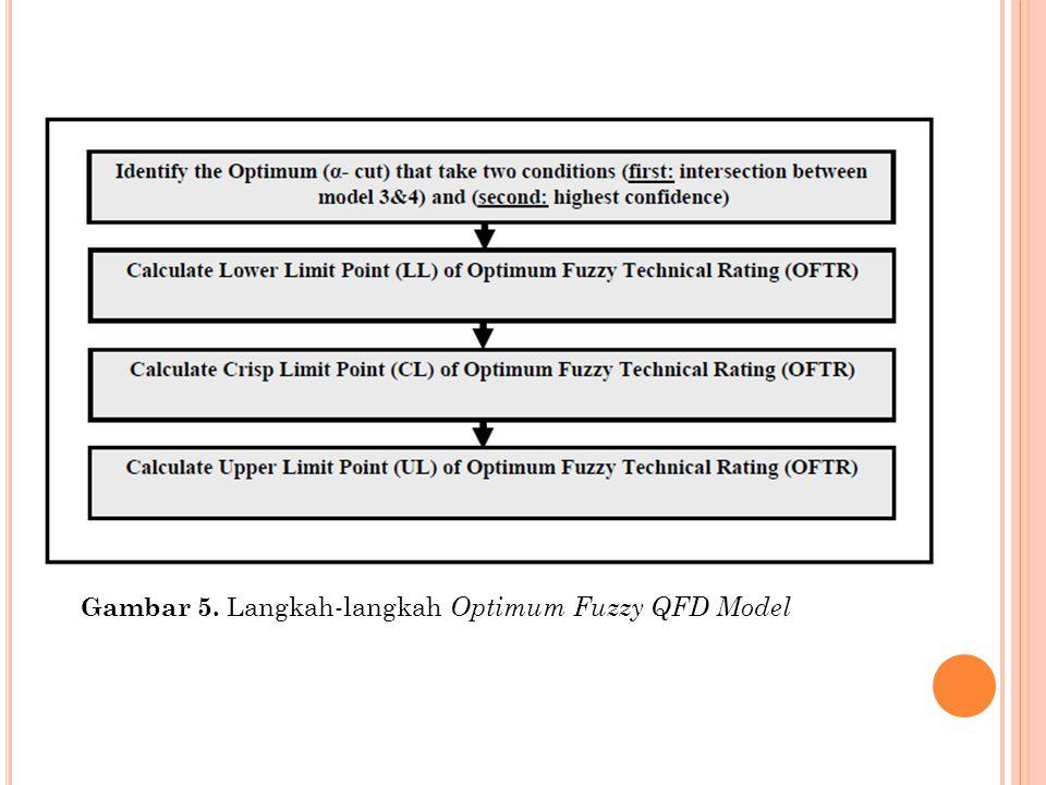 Gambar 5. Langkah-langkah Optimum Fuzzy QFD Model