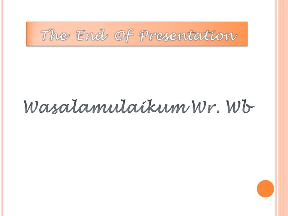The End Of Presentation