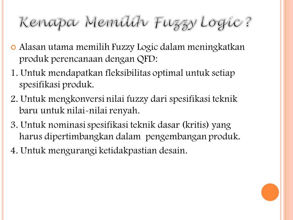 Kenapa Memilih Fuzzy Logic