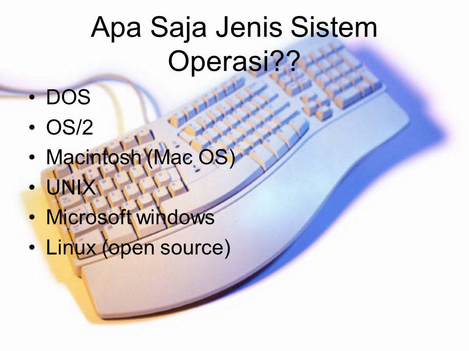 Apa Saja Jenis Sistem Operasi
