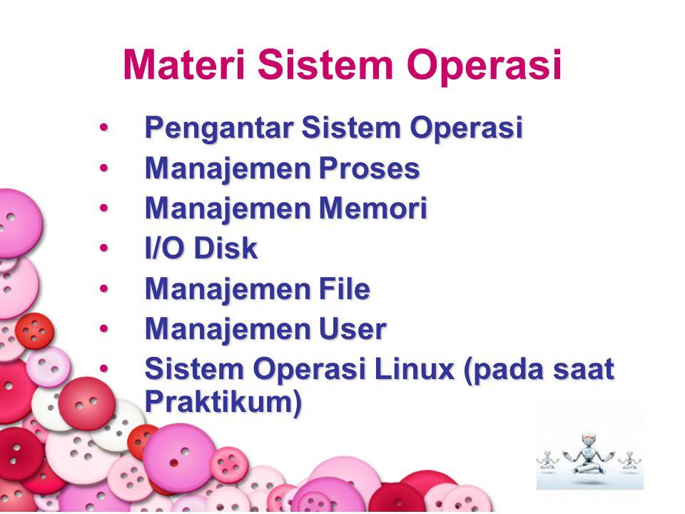 Materi Sistem Operasi Pengantar Sistem Operasi Manajemen Proses