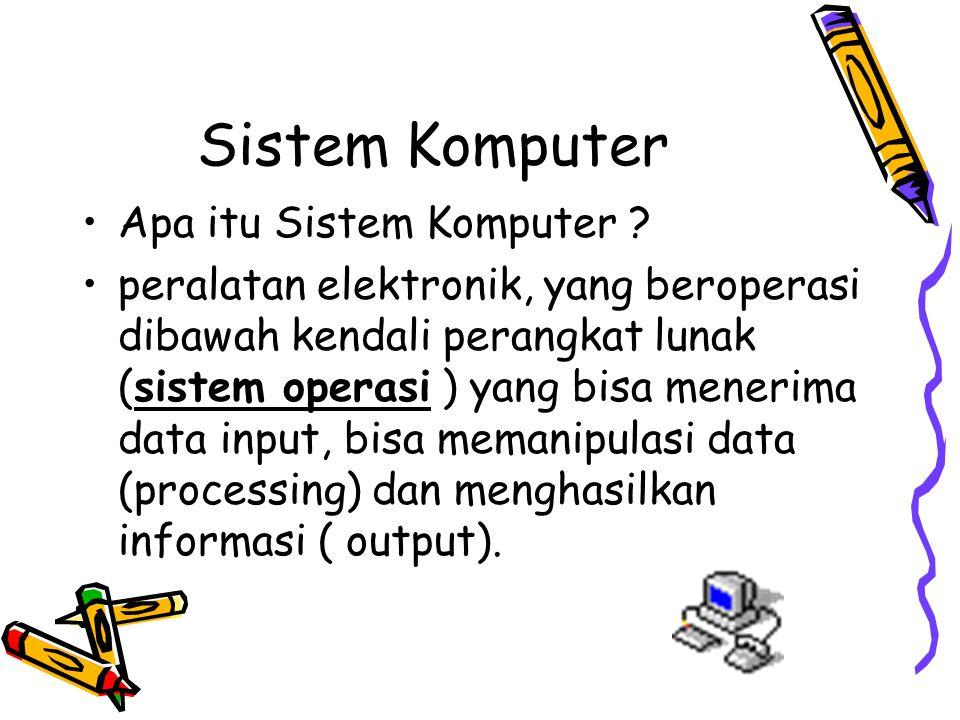 Sistem Komputer Apa itu Sistem Komputer