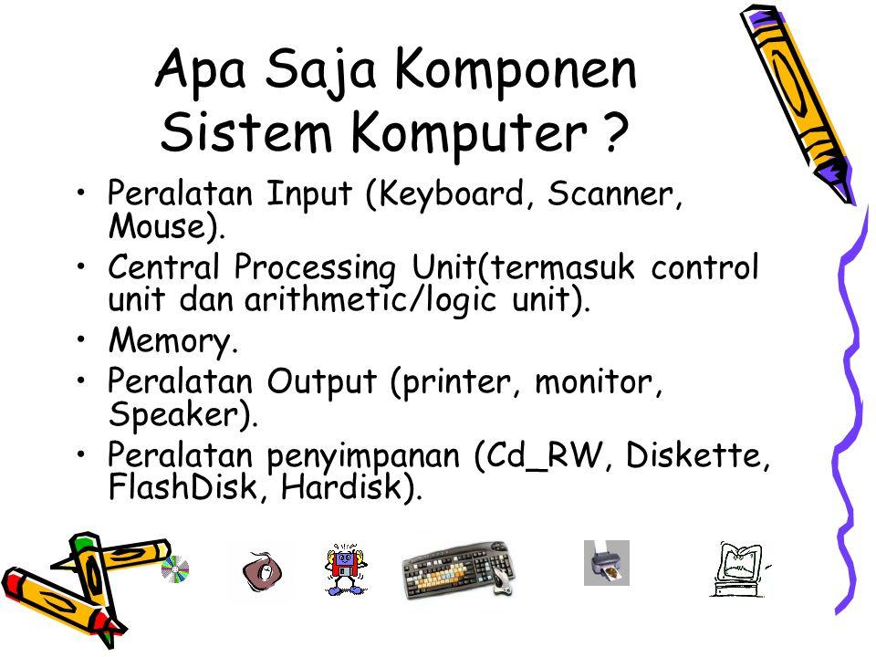 Apa Saja Komponen Sistem Komputer