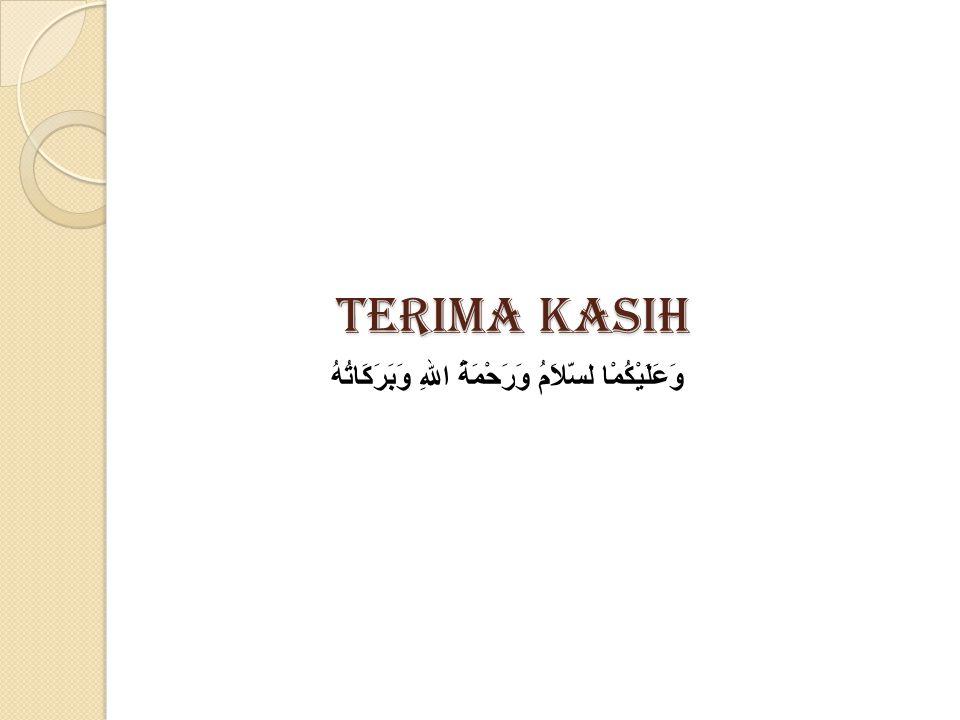 Terima kasih وَعَلَيْكُمْا لسَّلاَمُ وَرَحْمَةُ اللهِ وَبَرَكَاتُهُ
