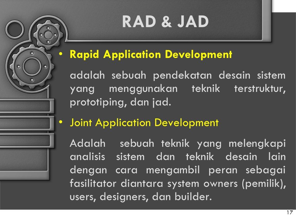 RAD & JAD Rapid Application Development