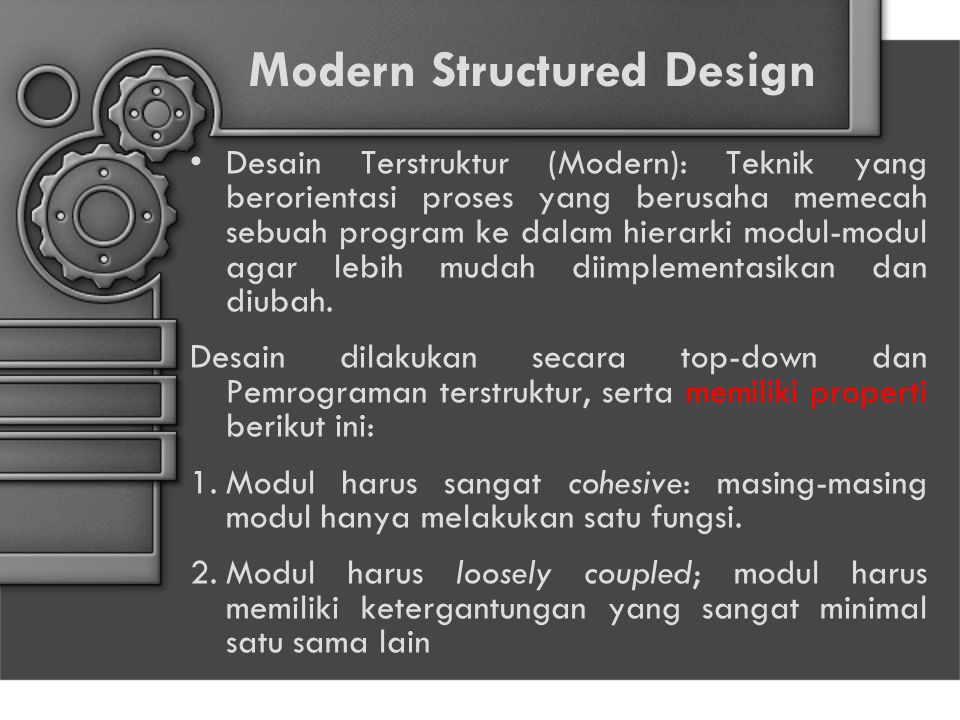 Modern Structured Design