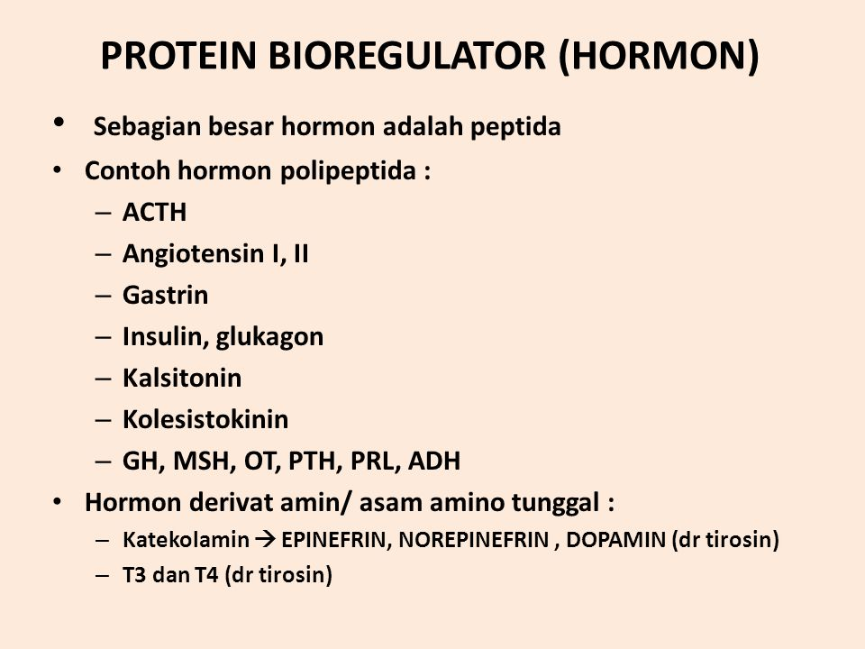 PROTEIN BIOREGULATOR (HORMON)