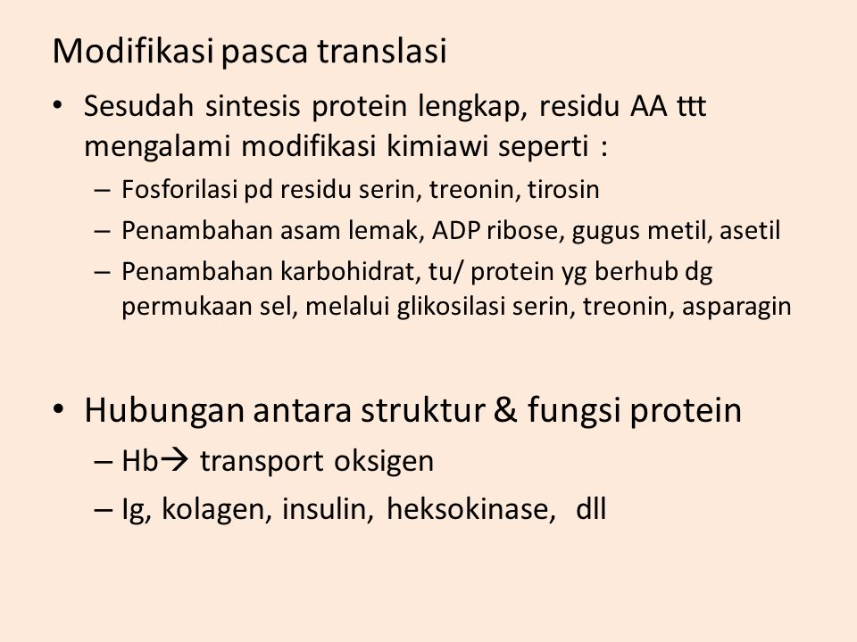 Modifikasi pasca translasi