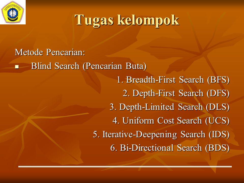 Tugas kelompok Metode Pencarian: Blind Search (Pencarian Buta)