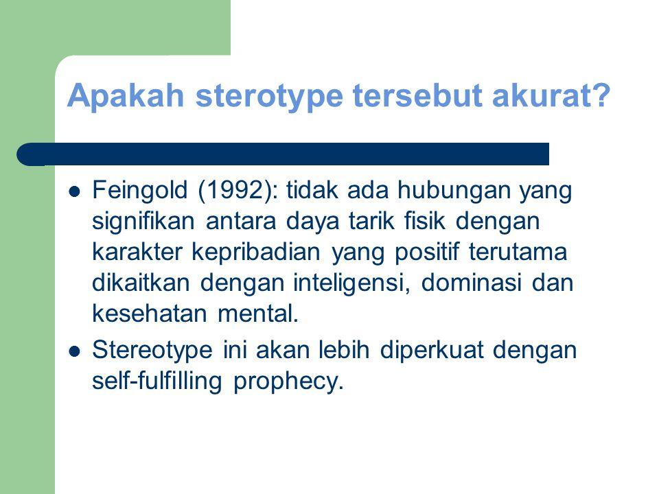 Apakah sterotype tersebut akurat