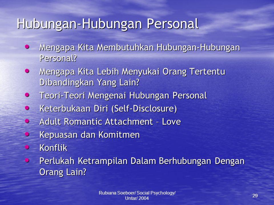 Hubungan-Hubungan Personal