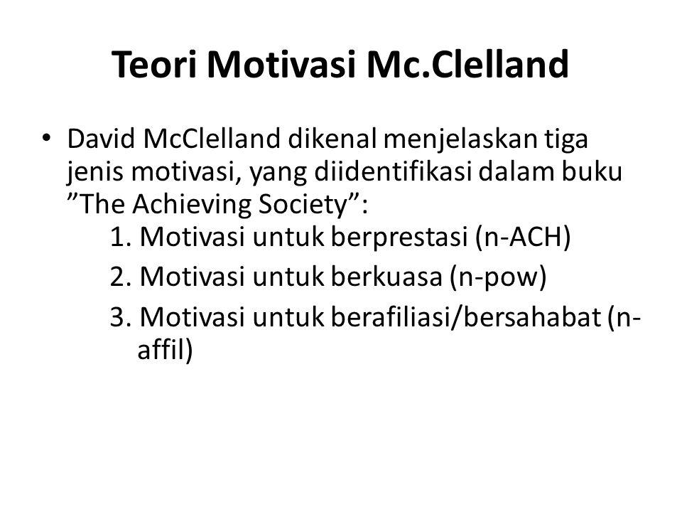 Teori Motivasi Mc.Clelland