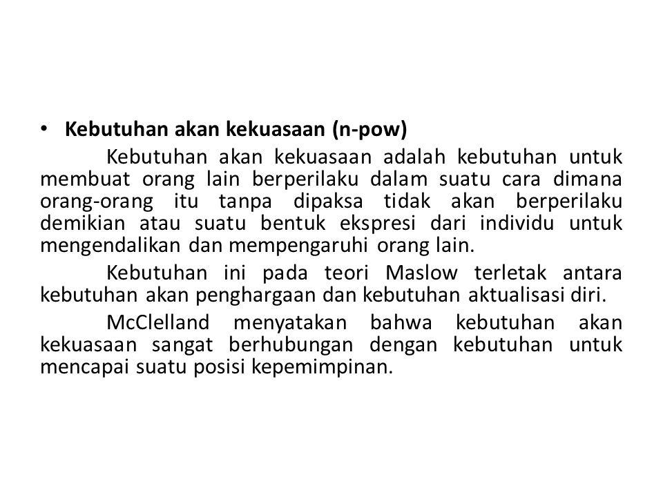 Kebutuhan akan kekuasaan (n-pow)