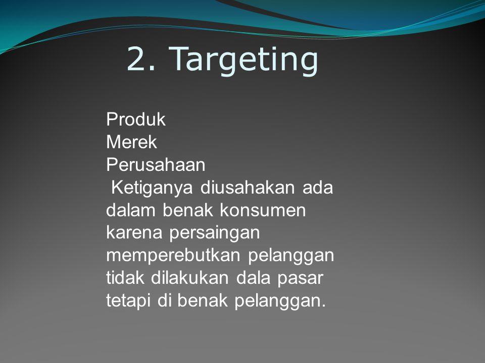 2. Targeting Produk Merek Perusahaan