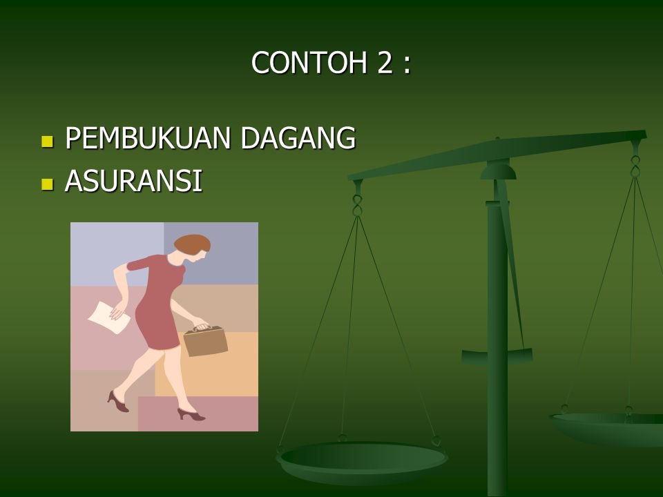 CONTOH 2 : PEMBUKUAN DAGANG ASURANSI