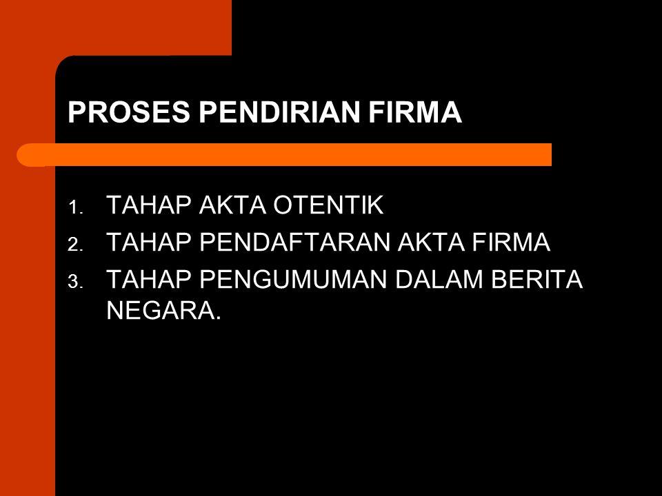 PROSES PENDIRIAN FIRMA