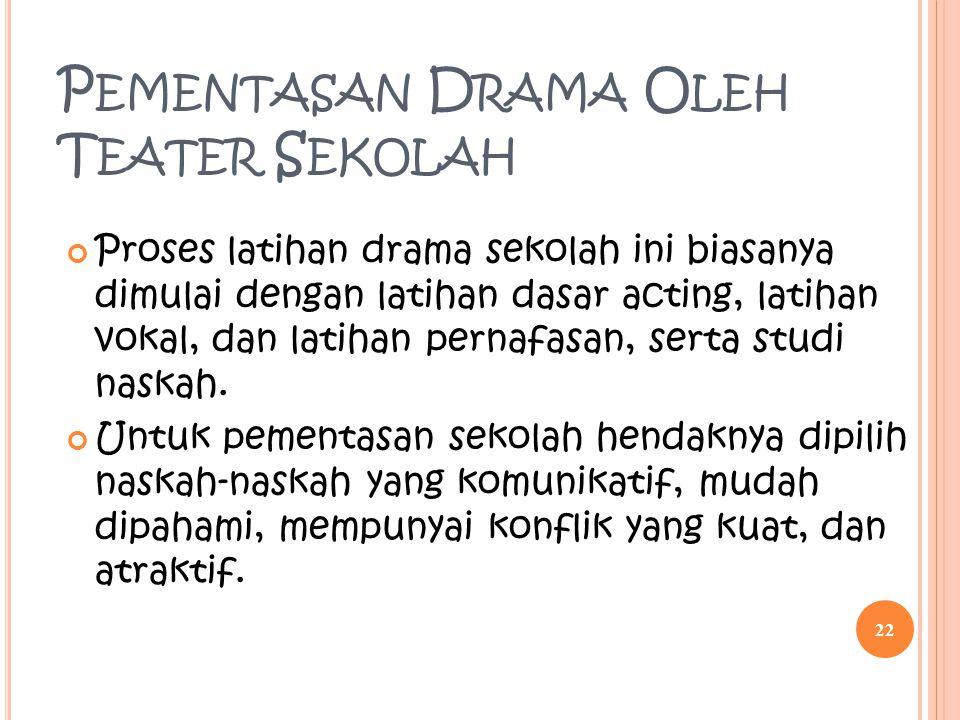 Pementasan Drama Oleh Teater Sekolah
