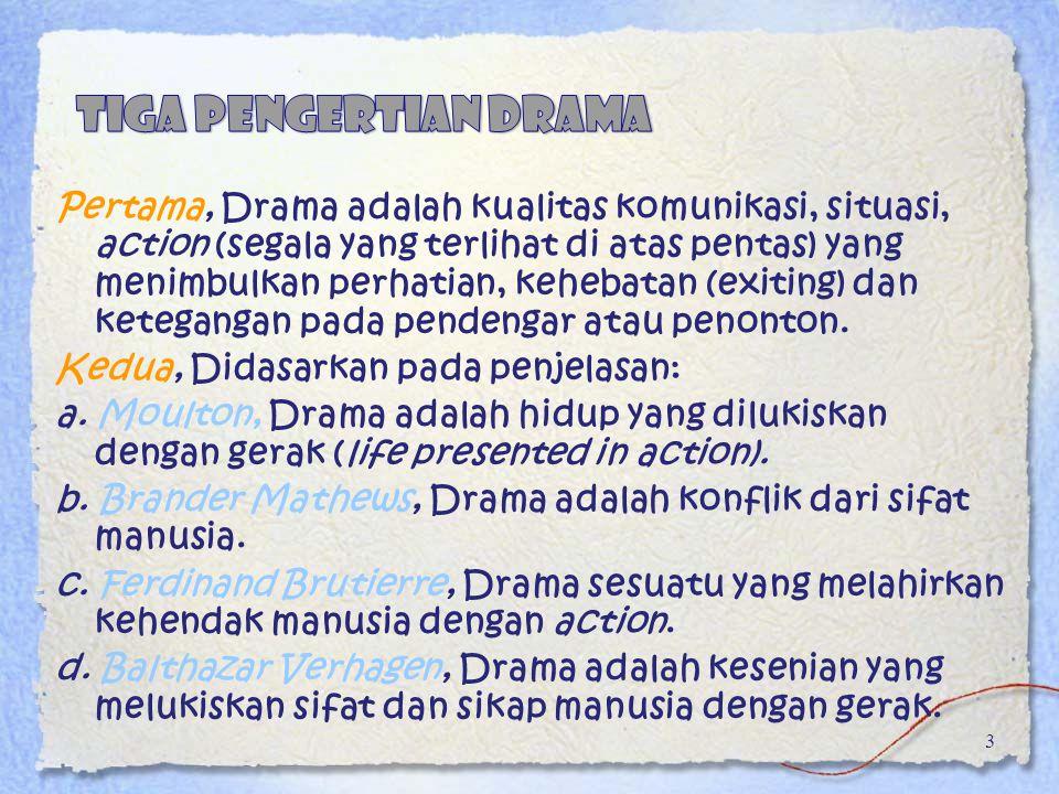 tiga pengertian drama