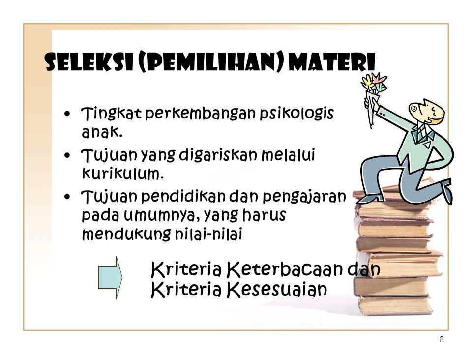 Seleksi (Pemilihan) Materi