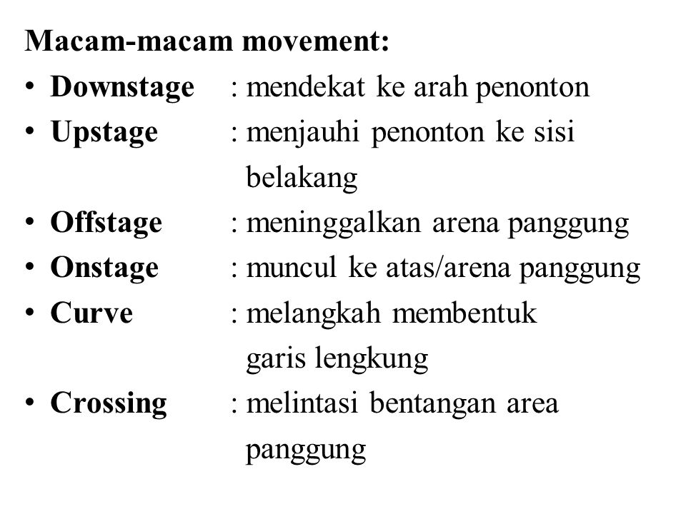 Macam-macam movement: