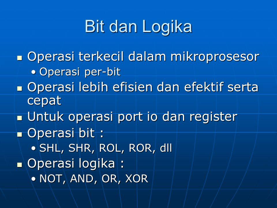 Bit dan Logika Operasi terkecil dalam mikroprosesor