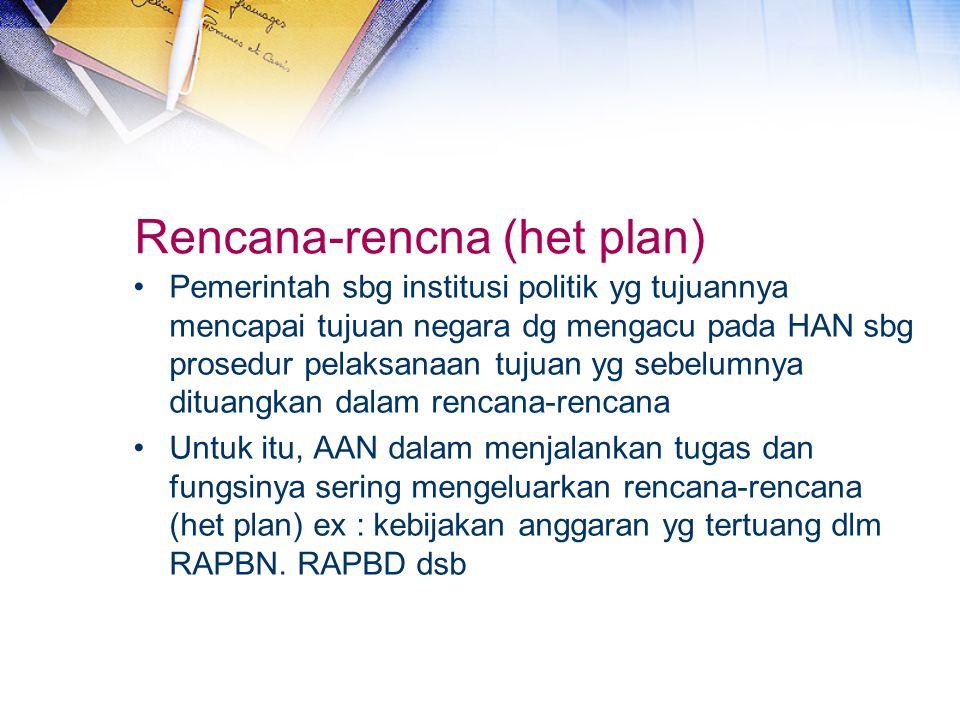 Rencana-rencna (het plan)