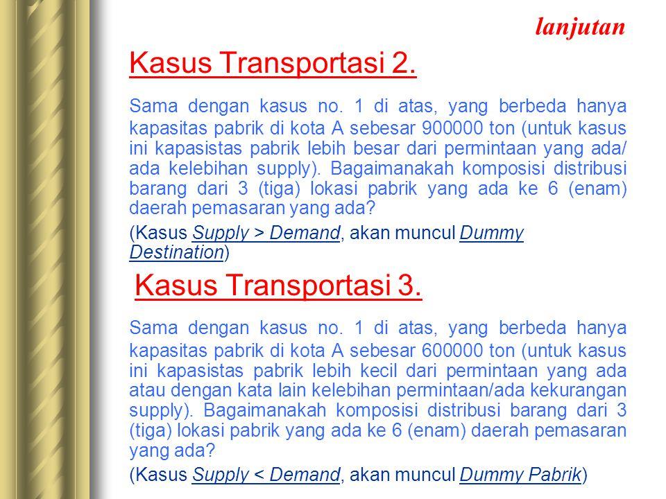 lanjutan Kasus Transportasi 2.