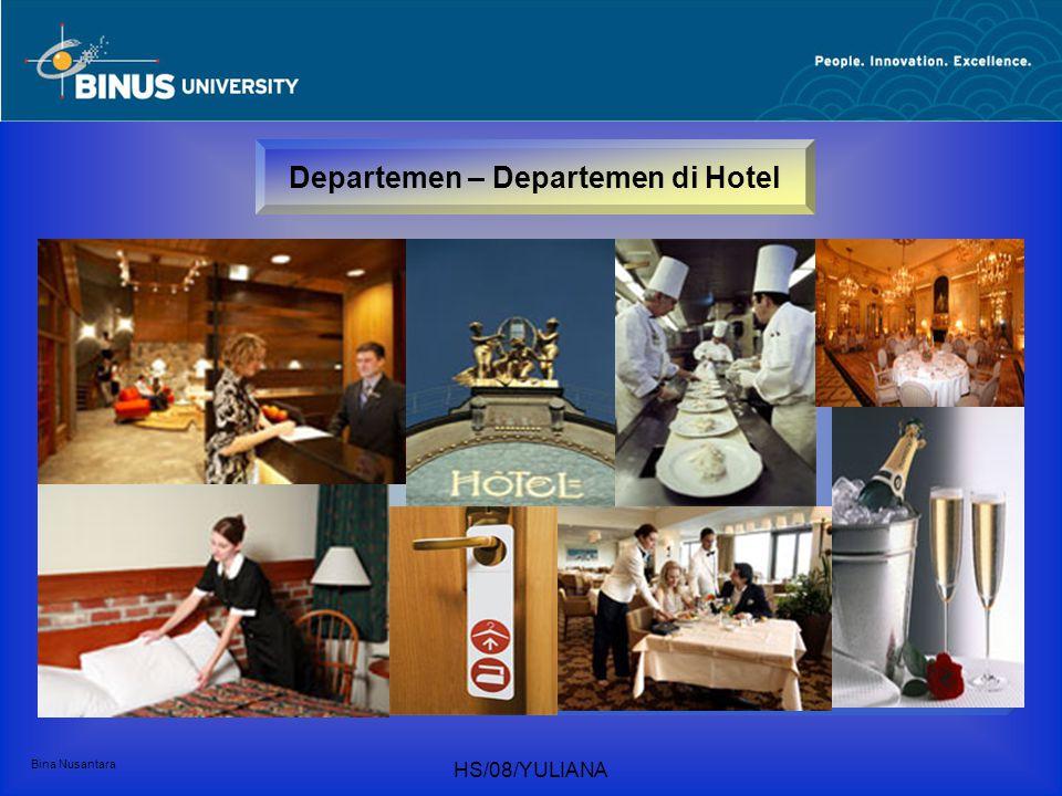 Departemen – Departemen di Hotel