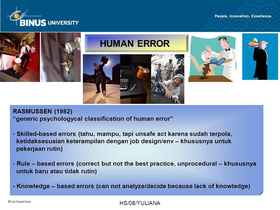 HUMAN ERROR RASMUSSEN (1982)