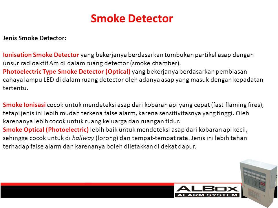 Smoke Detector Jenis Smoke Detector: