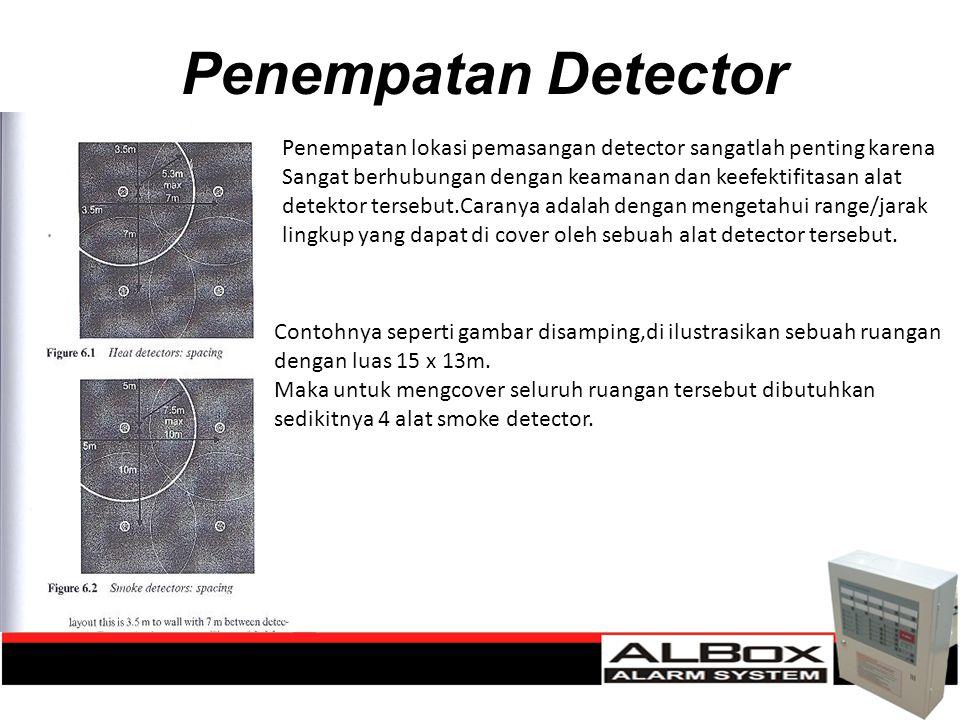 Penempatan Detector Penempatan lokasi pemasangan detector sangatlah penting karena.