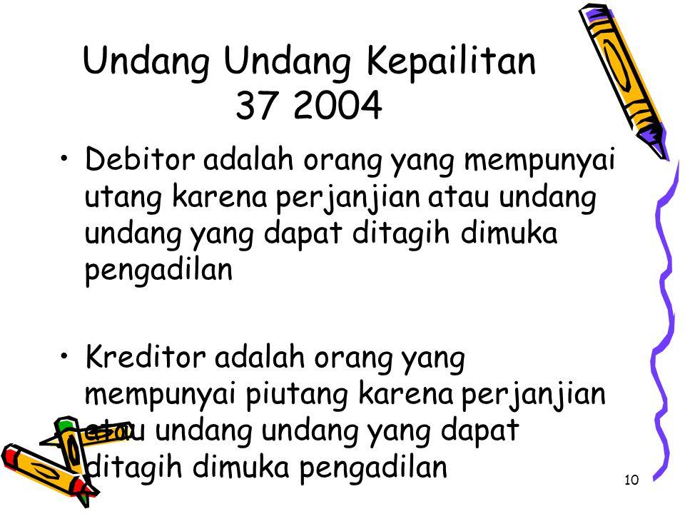 Undang Undang Kepailitan 37 2004