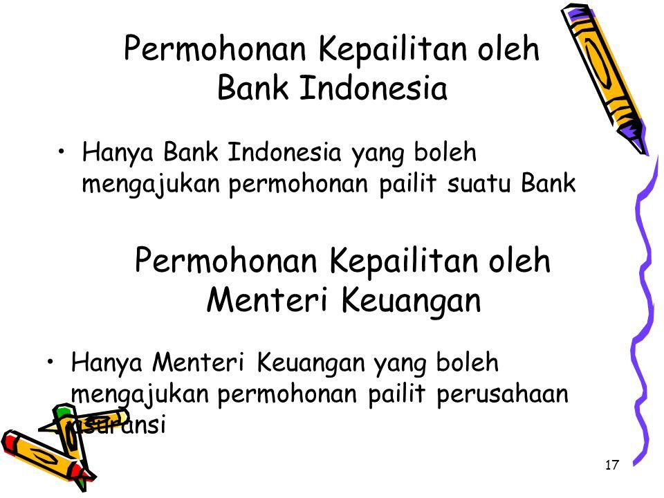 Permohonan Kepailitan oleh Bank Indonesia