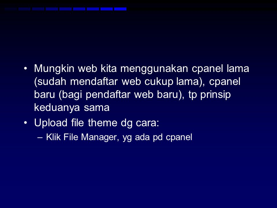Upload file theme dg cara: