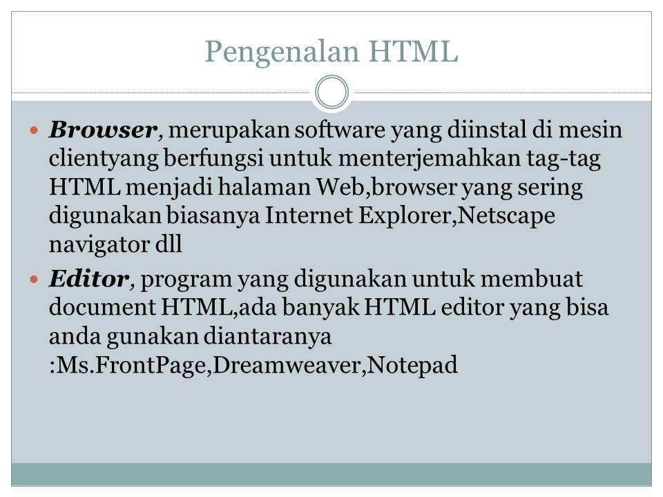 Pengenalan HTML