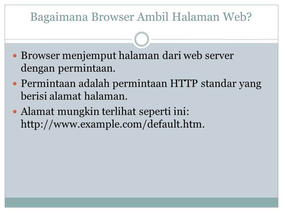 Bagaimana Browser Ambil Halaman Web