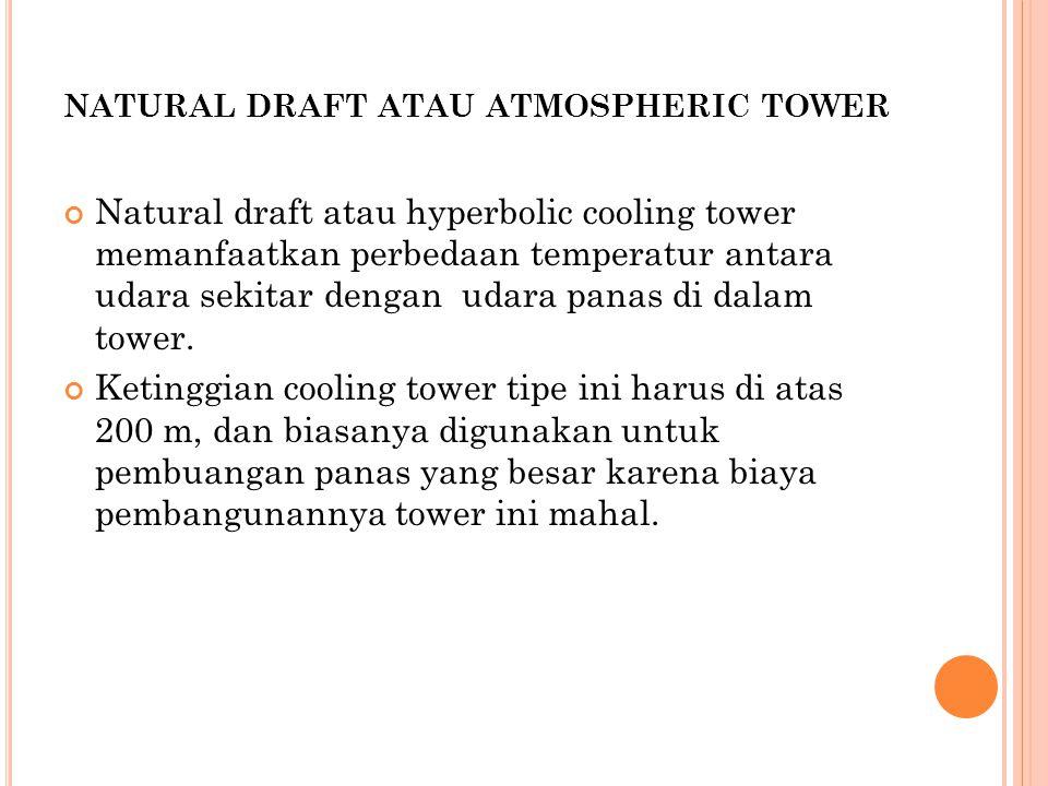 natural draft atau atmospheric tower