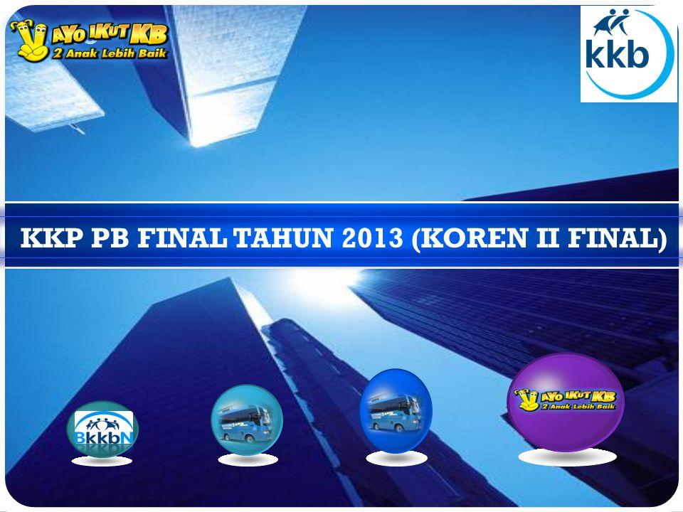 KKP PB FINAL TAHUN 2013 (KOREN II FINAL)