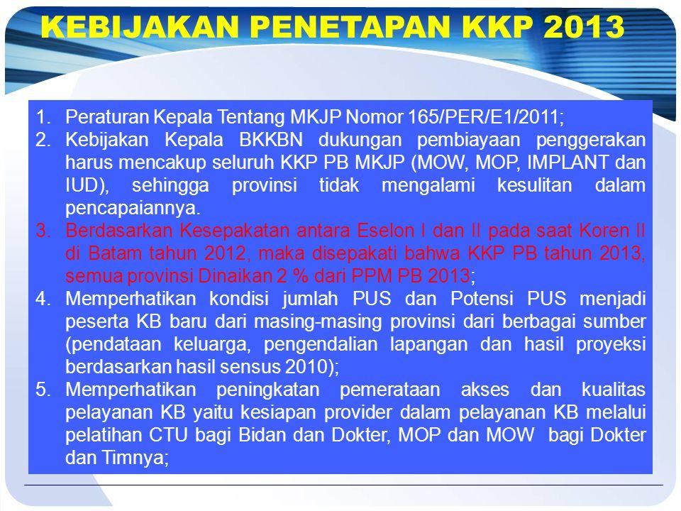 KEBIJAKAN PENETAPAN KKP 2013