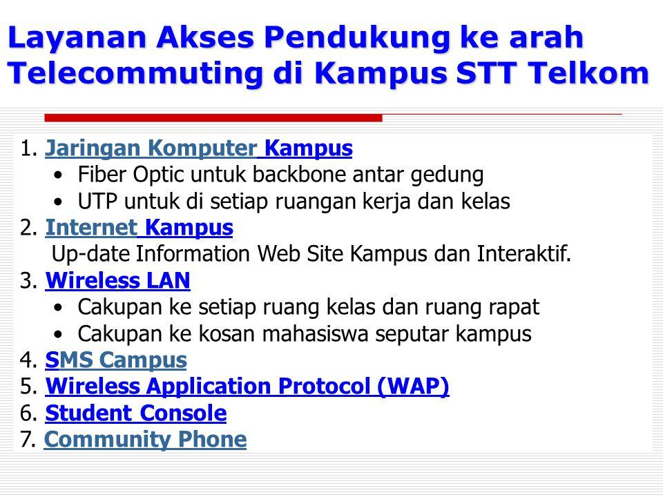 Layanan Akses Pendukung ke arah Telecommuting di Kampus STT Telkom