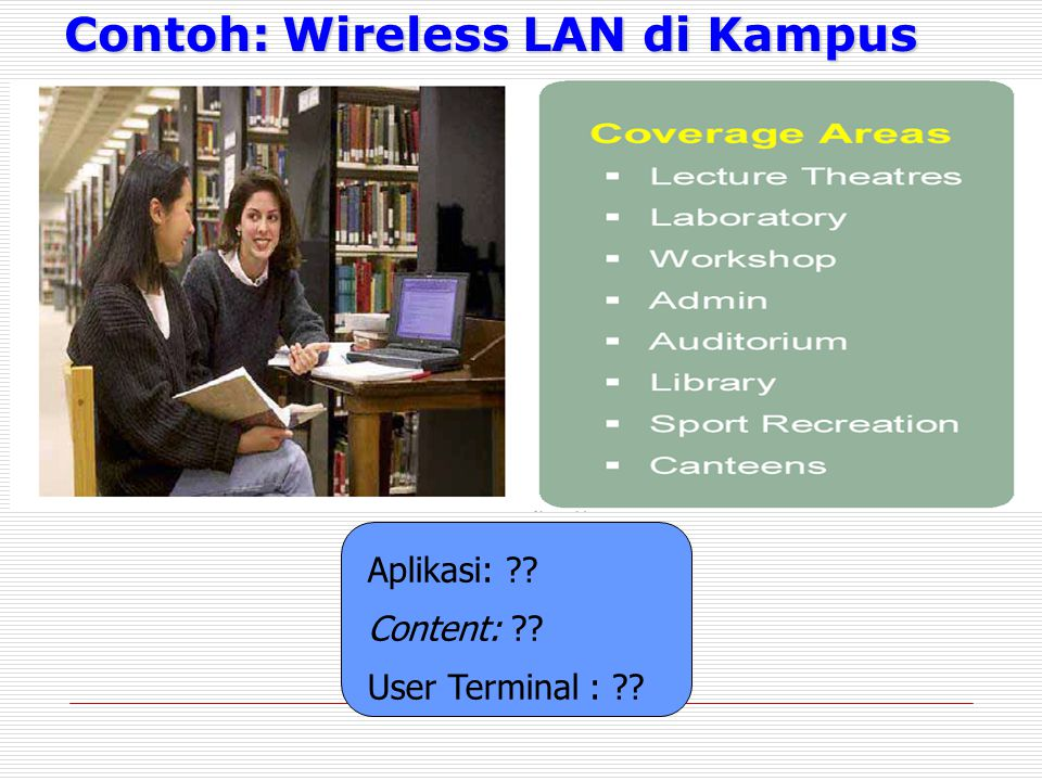 Contoh: Wireless LAN di Kampus