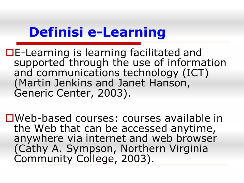 Definisi e-Learning