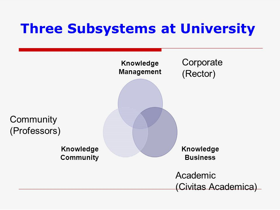 Three Subsystems at University
